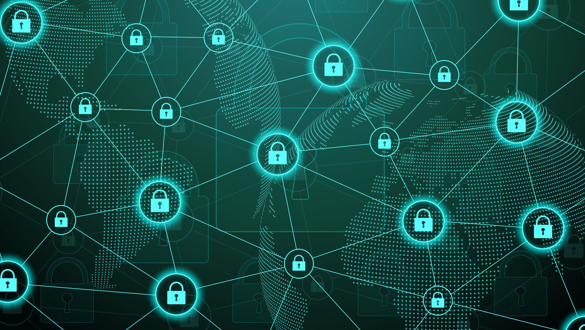 Protection concept. Data Security system Shield Protection Verification. Cyber security and information or network protection. Future cyber technology. System privacy. Vector illustration.